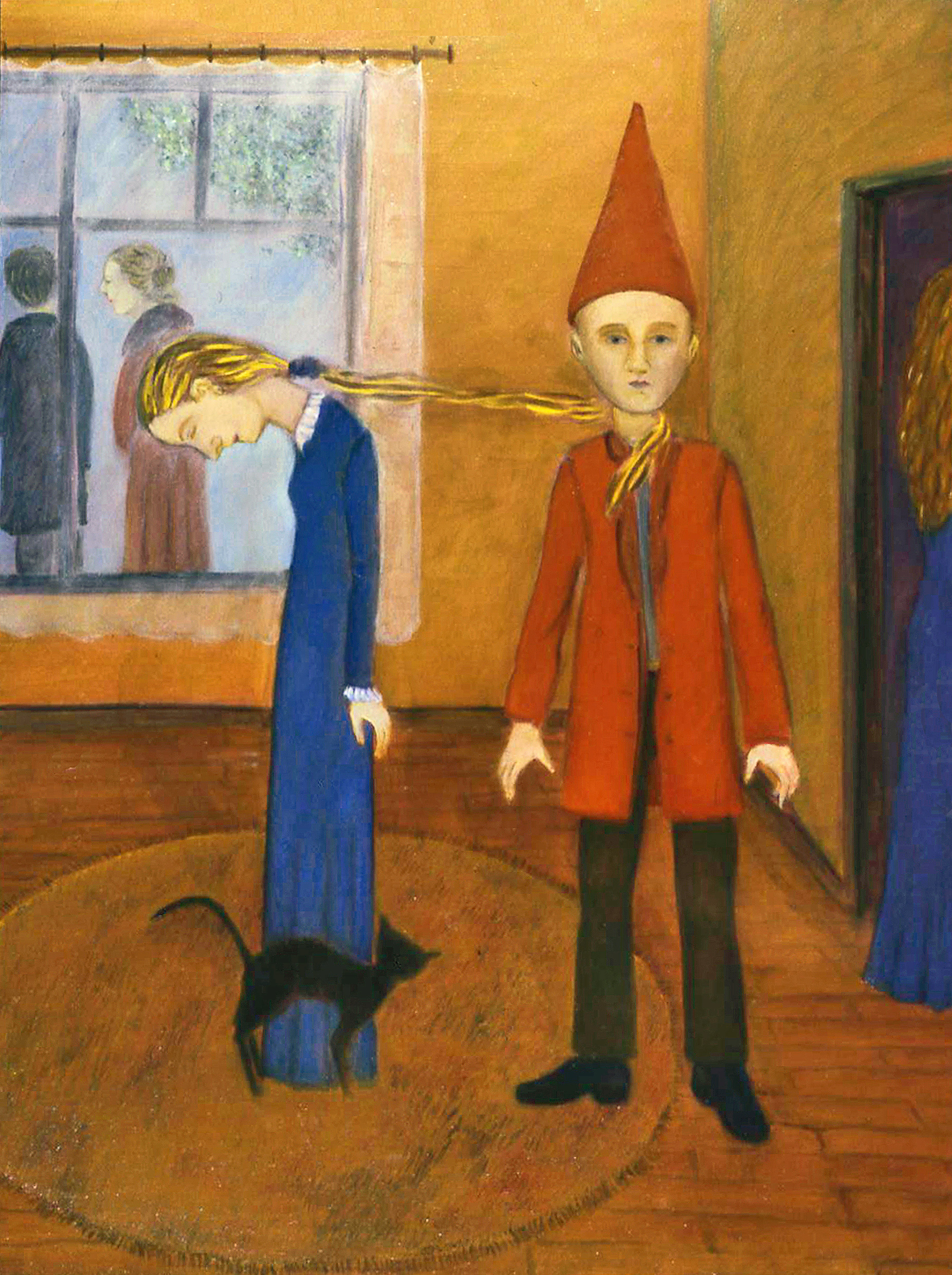 Dunce, oil on clayboard, by Bert Menco