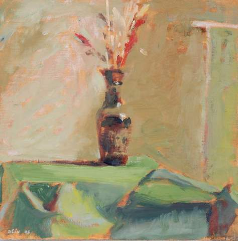 Motta Brim, Flower Vase, oil on canvas, 35*35 cm