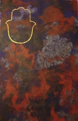 Hamsa 20x30 Acrylic on Canvas
