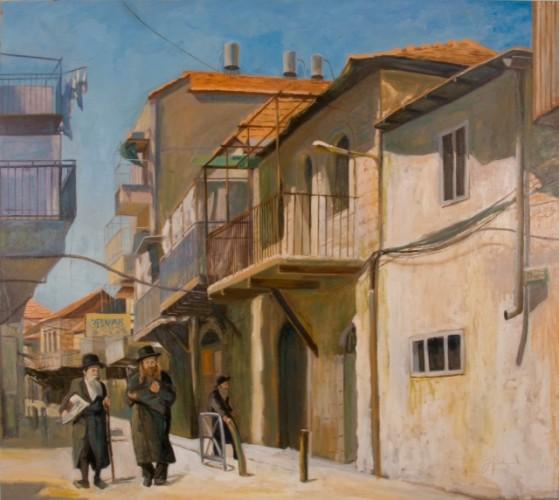 Joel Gluck, Meah Shearem. Oil on canvas, 40 x 45 in. $4,500