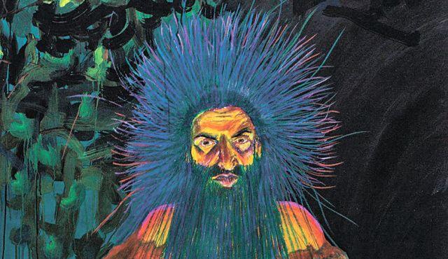"""Noam Venkert, """"Self-portrait as Rabbi Shimon Bar-Yohai,"""" 2012. Photo by Tal Nissim"""